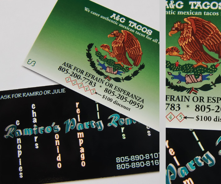 A&C Tacos Business Cards