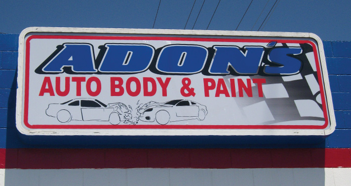 Adon's Auto Body & Paint Signage